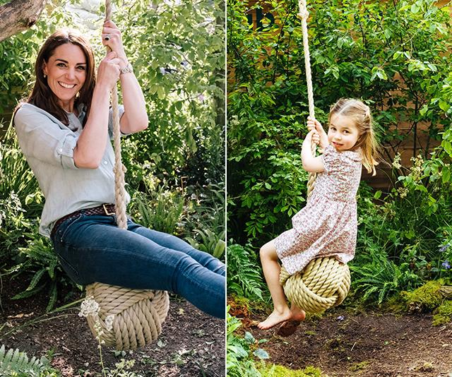 The Cambridge's look like they're big fans of a rope swing!