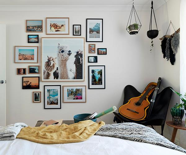 This photo wall certainly ignited our wanderlust.
