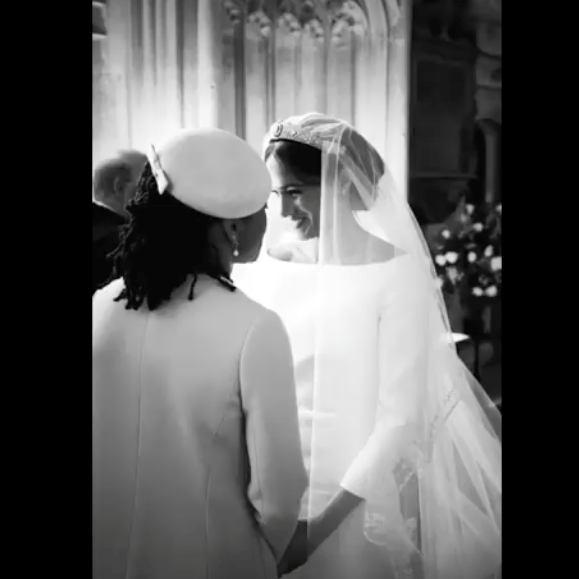 A beautiful shot of Meghan and her mum Doria was included in the new video.
