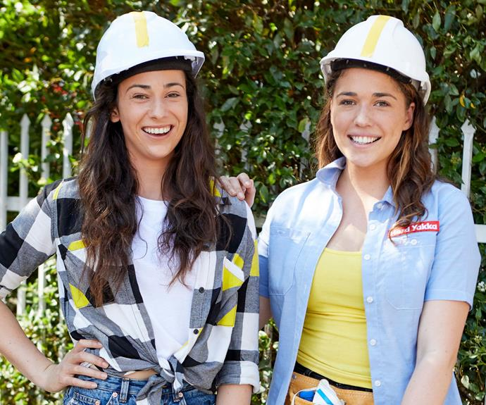 Differences aside, Mikaela and Eliza were thrilled by Shayn and Carly's renovation (Image: Channel Seven).