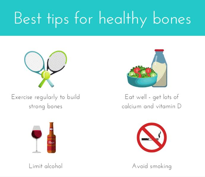 Some simple lifestyle choices to help maintain bone strength. *(Image: The Big O)*