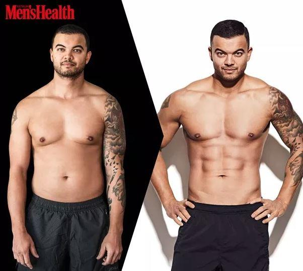 Guy's incredible 8-week transformation. *(Image: *Men's Health*)
