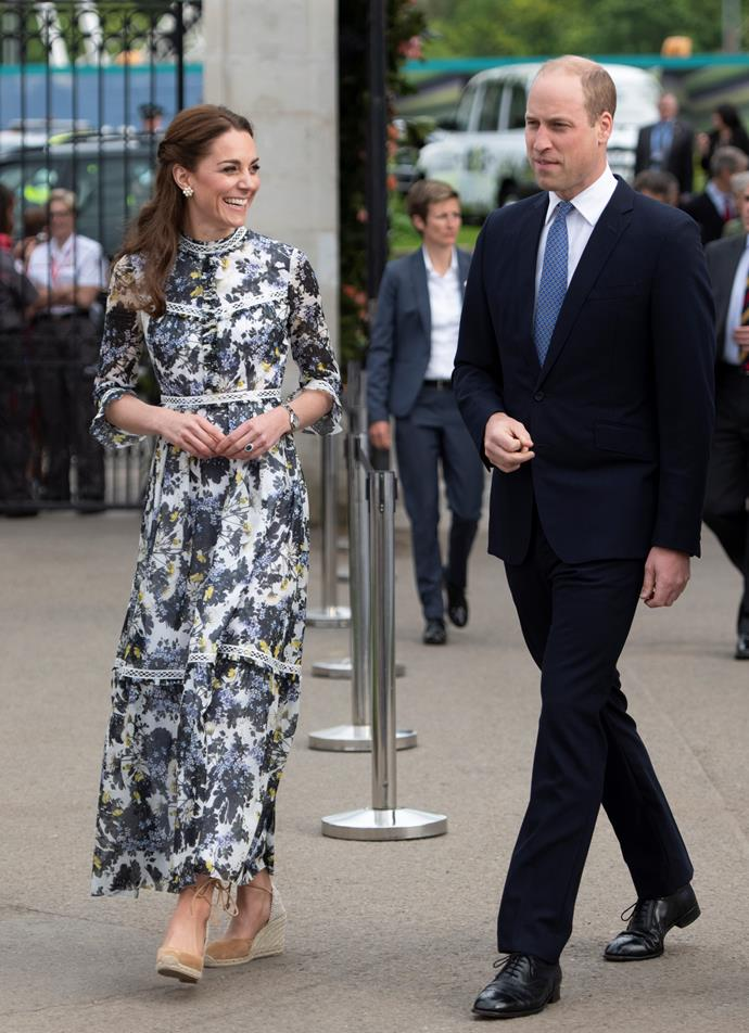 Kate and Wills looked happy and relaxed.