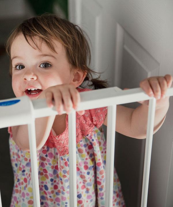 Fit safety gates to both the top and bottom of a staircase. *(Image: Getty Images)*
