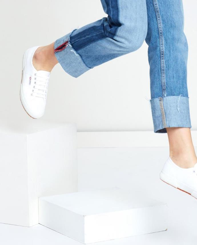 "Superga sneakers, $89.95 from the Iconic. Shop them [here](https://www.theiconic.com.au/2750-cotu-classic-unisex-180647.html|target=""_blank""