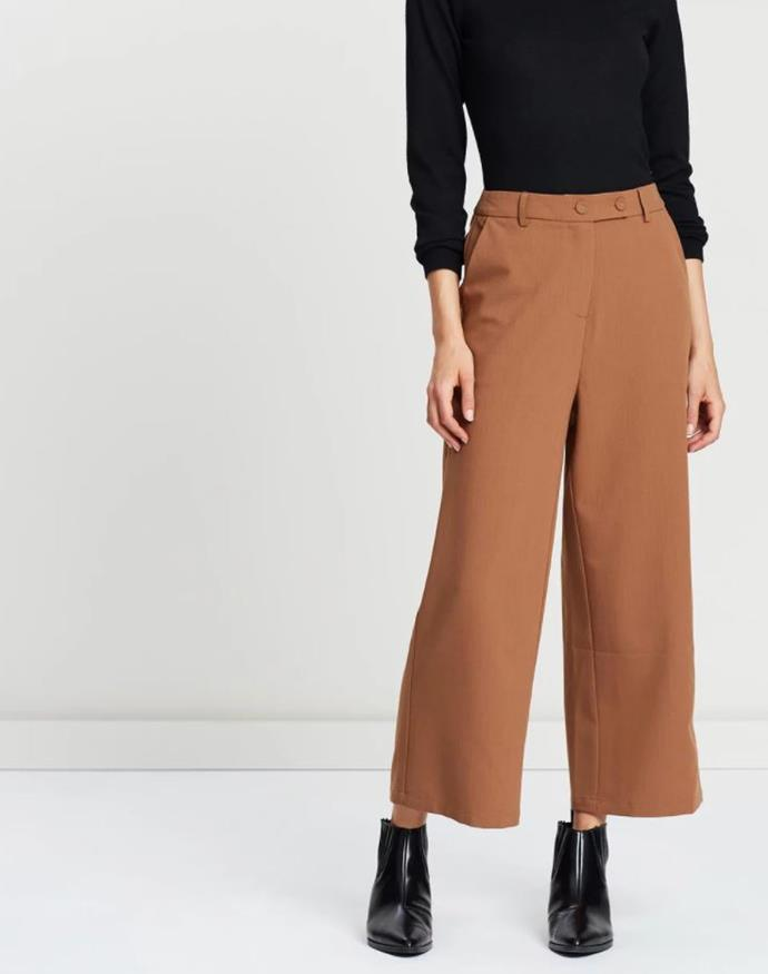 "ATMOS&HERE Frankie Culotte Pants, $69.95, shop them (via The Iconic) [here](https://www.theiconic.com.au/frankie-culotte-pants-835677.html|target=""_blank""