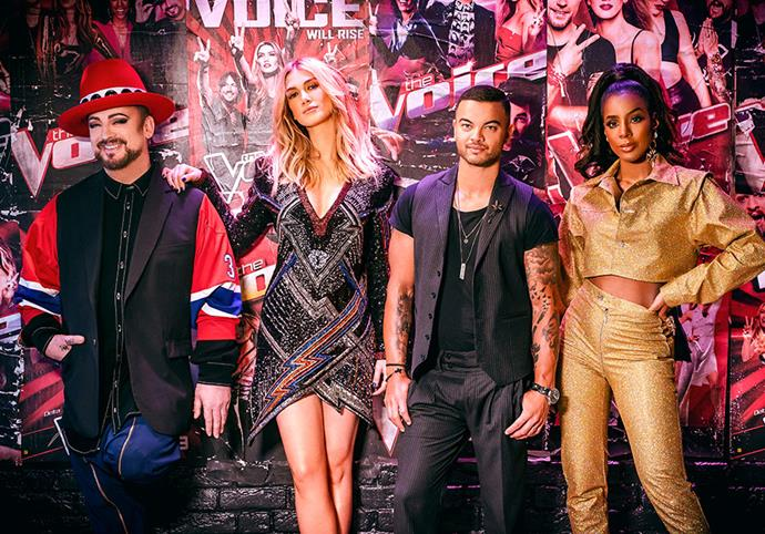 "**Season eight** <br><br> Proving she has staying power, Delta was back *again* and it was third time lucky for Boy George and Kelly Rowland. For the first time, there were two Aussie coaches on board when [Guy Sebastian](https://www.nowtolove.com.au/reality-tv/the-voice/guy-sebastian-the-voice-2019-52414|target=""_blank"") replaced Joe Jonas for the new season."