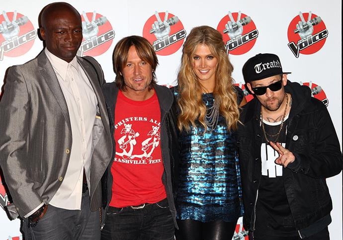 "**Season one**  <br><br> Before *The Voice* was the tried and tested ratings juggernaut we all know and love, the series was a brand-new twist on the singing show format when it hit screens in 2012. The original coach line-up featured Seal, [Keith Urban](https://www.nowtolove.com.au/tags/keith-urban|target=""_blank""), Delta Goodrem and Joel Madden."