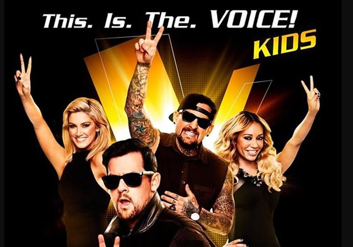 **The Voice Kids** <br><br> Fans with razor sharp memories will recall that there was a children's version of *The Voice* way back in 2014. Its coaches were Delta Goodrem, The Madden Brothers and The Spice Girl's Mel B.