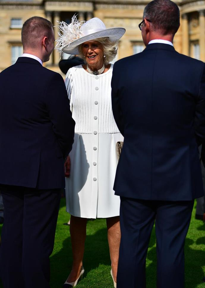 Camilla Parker Bowles looked beautiful in white.
