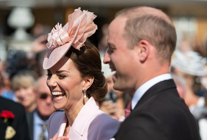 Duchess Catherine and Prince William were all laughs as they chatted to guests.