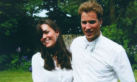 Prince William and Kate Middleton during their early days together as university students.