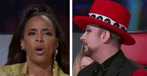 The Voice S Boy George And Kelly Rowland Face Backlash