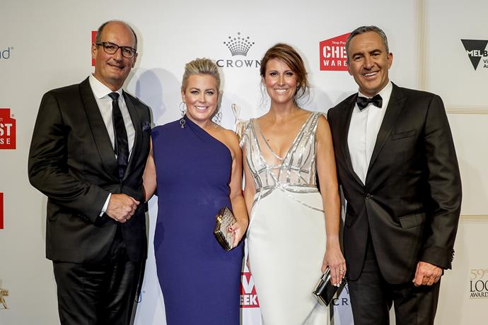 Sam with her *Sunrise* colleagues David Koch, Natalie Barr and Mark Beretta.