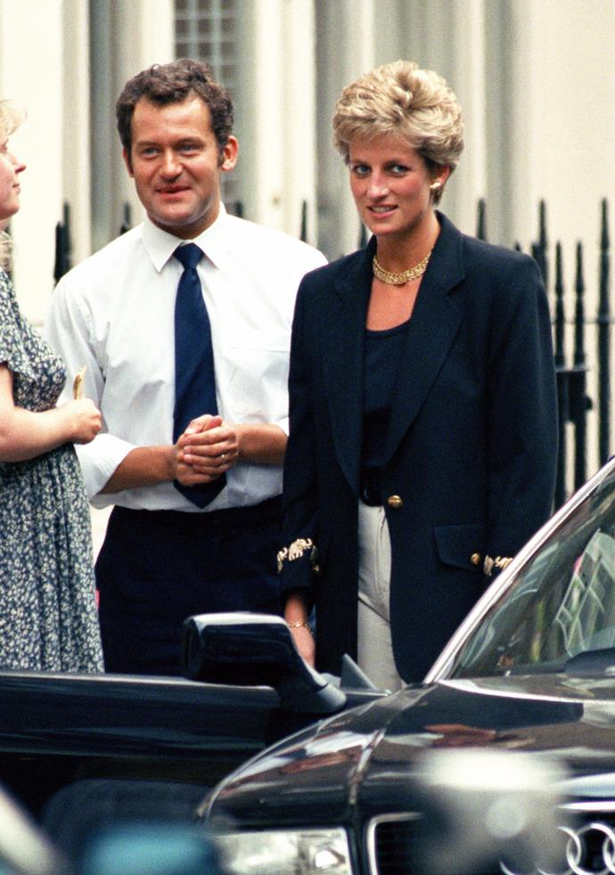 Paul Burrell with his former employer, Princess Diana.