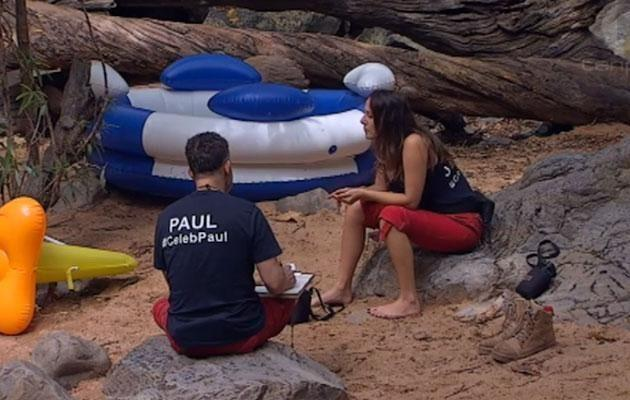 Paul and Jackie connected spiritually on *I'm A Celeb...*2018.