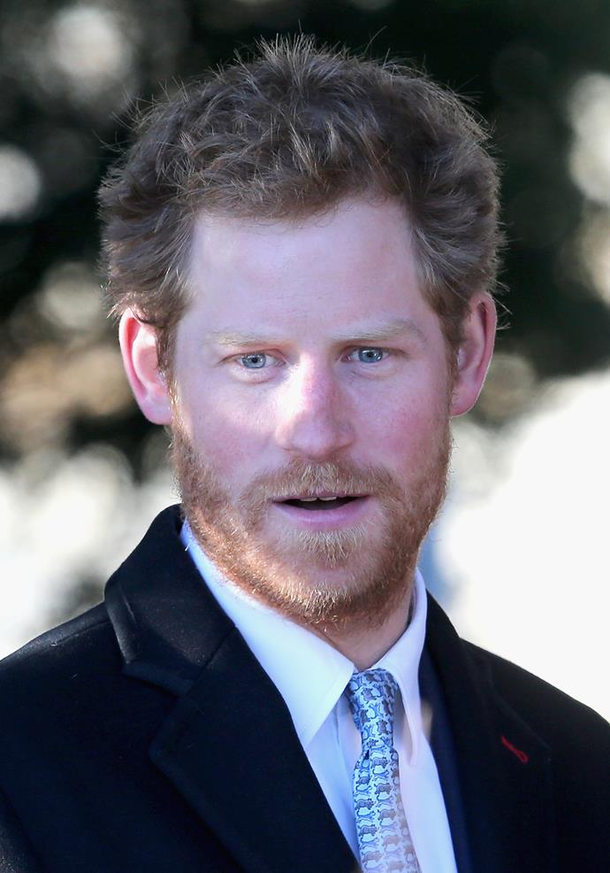 Prince Harry during his full-haired glory days.