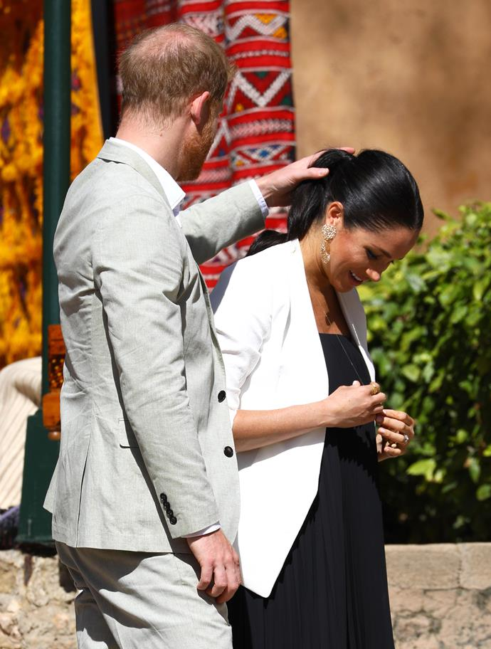 Harry and Meghan on their most recent tour of Morocco.