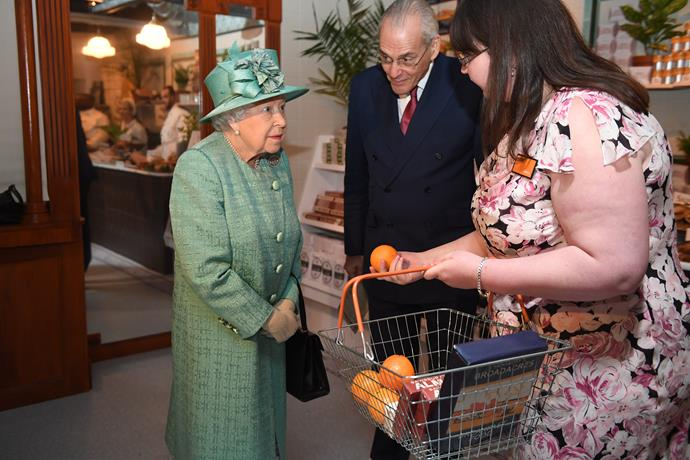 The Queen made like the ordinary folk and visited a supermarket this week!
