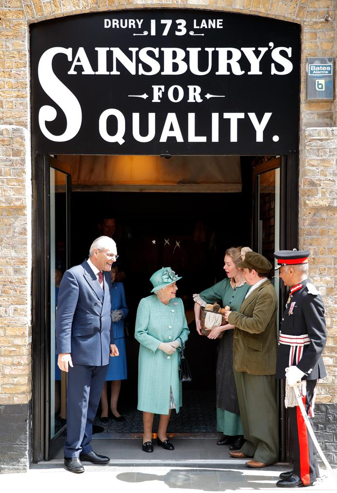 The Queen has paid a visit to a well known supermarket chain in the UK.