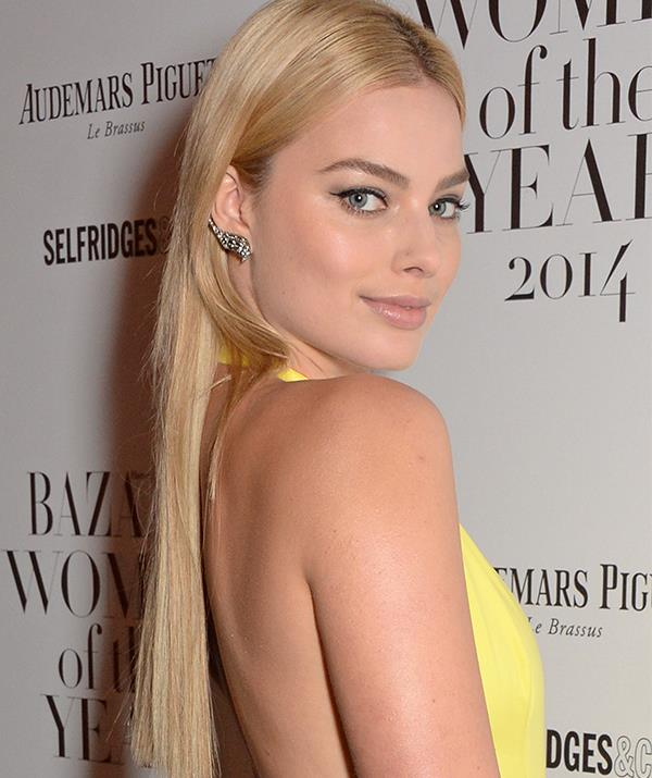 Attending the *Harper's Bazaar* Women of the Year Awards in 2014, Margot got on-board the extensions craze ... about 10 years too late. Eep!