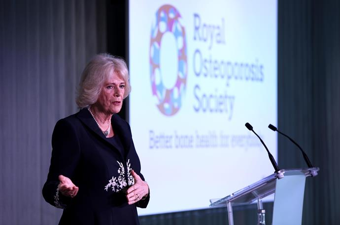 Camilla, Duchess of Cornwall has been the President of the National Osteoporosis Society since 2001. *(Image: Getty Images)*