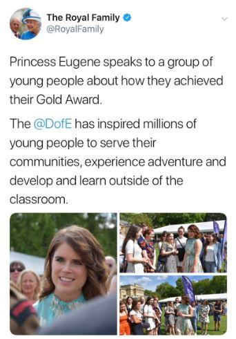 Whoops! Princess Eugenie's name had a minor spelling error!