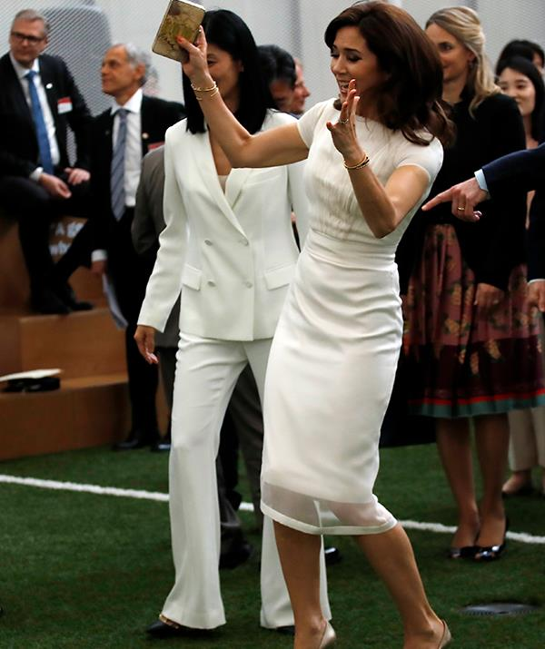 Goal!? Princess Mary embraced the unique sport.
