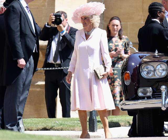 And who could forget Camilla's royal wedding ensemble for Prince Harry and Duchess Meghan's big day? Pink perfection!