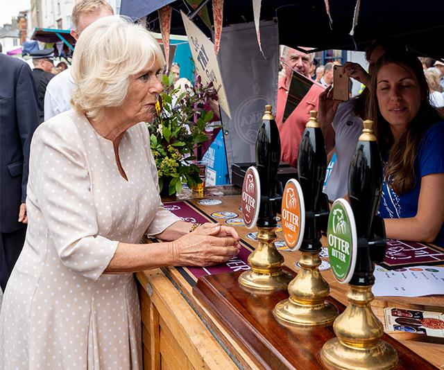 In 2018, Camilla attended a food market in a beautiful polka-dot dress that almost distracted us from the free-pouring drinks at hand!
