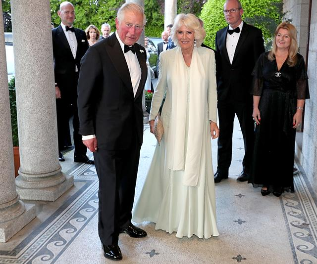 During a visit to Ireland earlier in the year, Camilla and Charles dressed up *very* flash for a glitzy soiree.