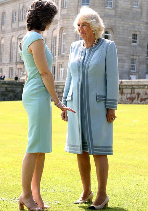 And there they go again! Camilla and Kate Middleton are much alike in their liking for recycled outfits - or shoes in Camilla's case!