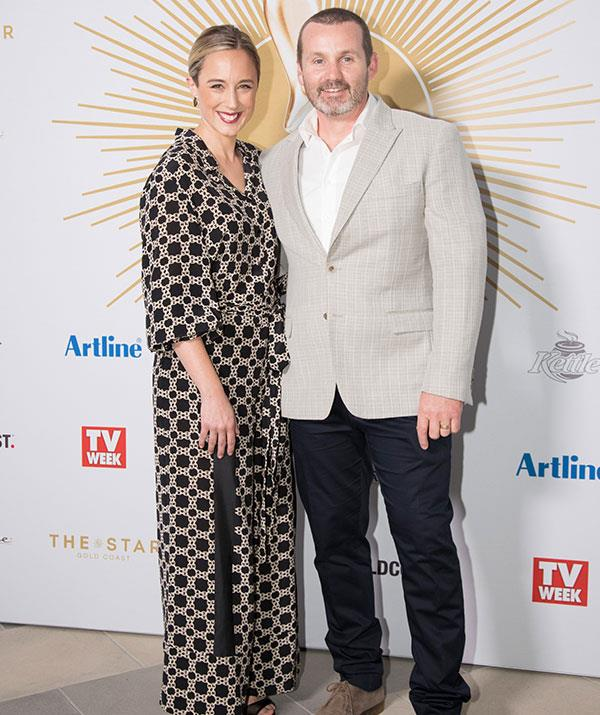 *Neighbours* stars Eve Morey and Ryan Moloney.