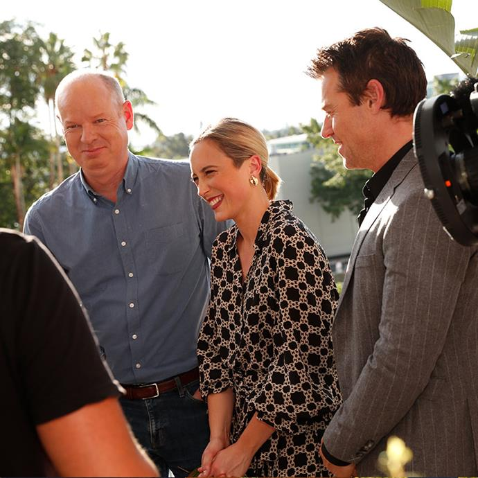 Tom Gleeson, Eve Morey and Rodger Corser