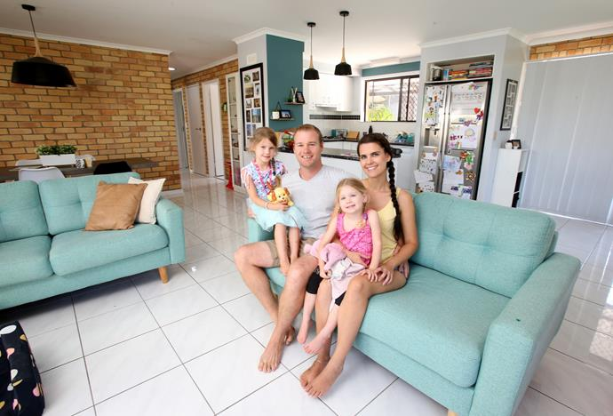Shayn and Carly with their daughters Harper and Imogen (Image: Channel Seven.)