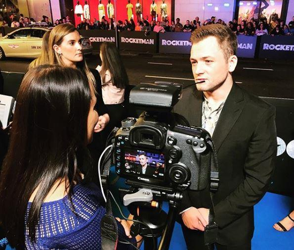I was fortunate enough to chat with Taron on the blue carpet at the Sydney premiere.