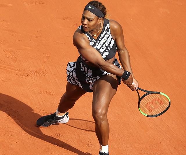 Serena has now progressed to the second round at the French Open.