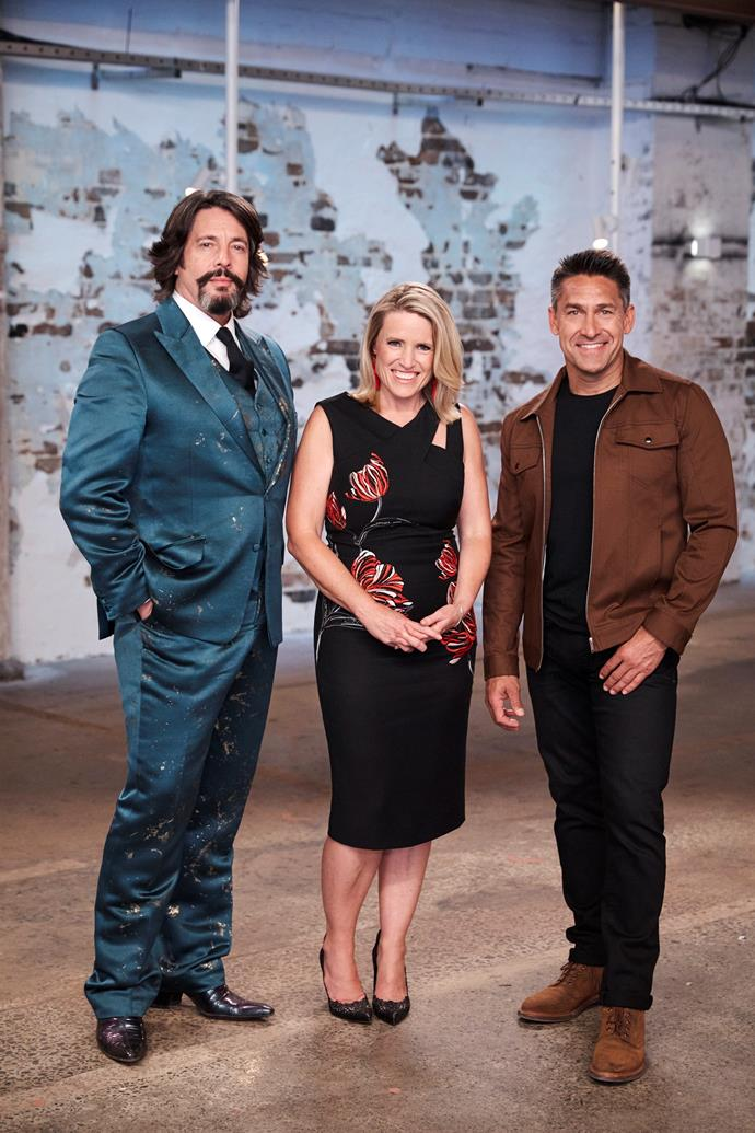 Jamie with his House Rules co-stars Laurence Llewelyn-Bowen and Wendy Moore.
