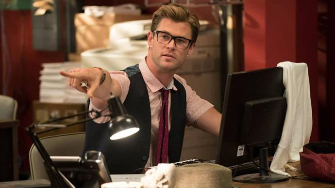 Chris as a receptionist in *Ghostbusters* was hilarious!