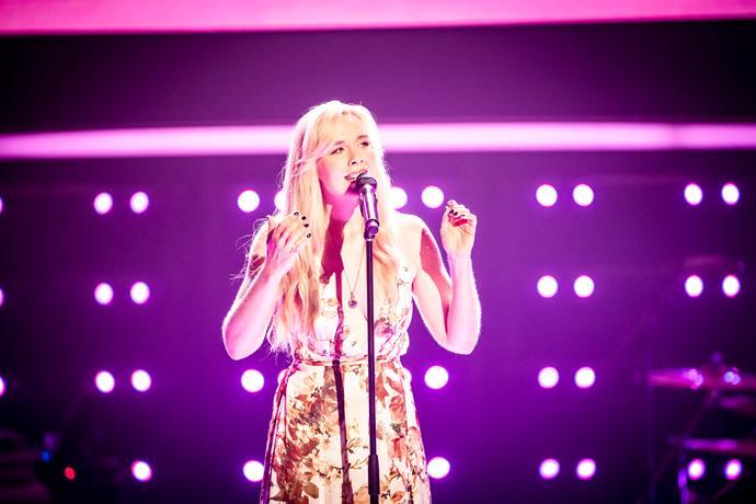 Erin is on The Voice Australia.