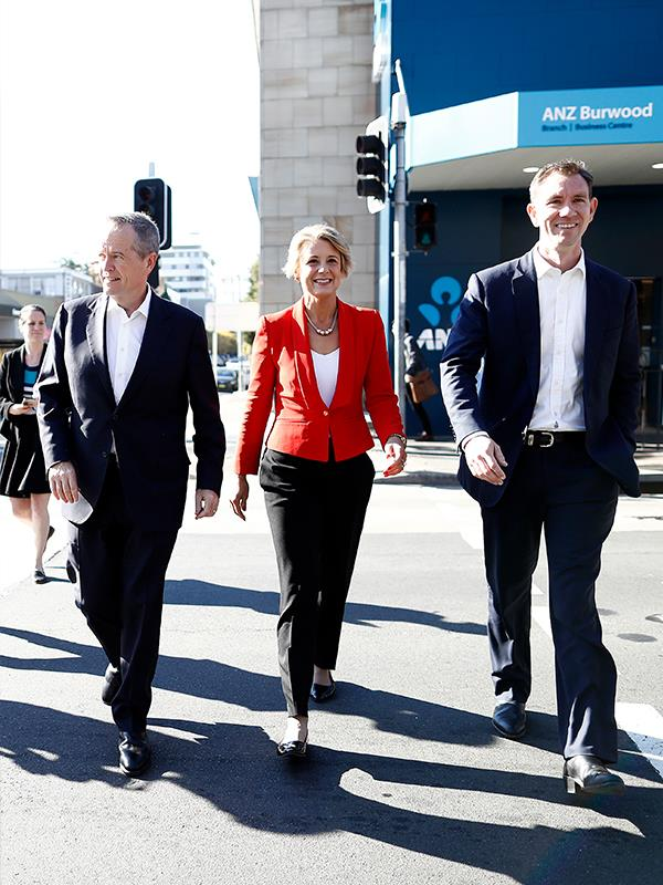 With Bill Shorten and Sam Crosby in the lead up to the 2018 election.