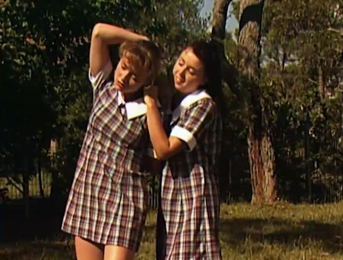 Dannii played a bad girl on *Home and Away*.