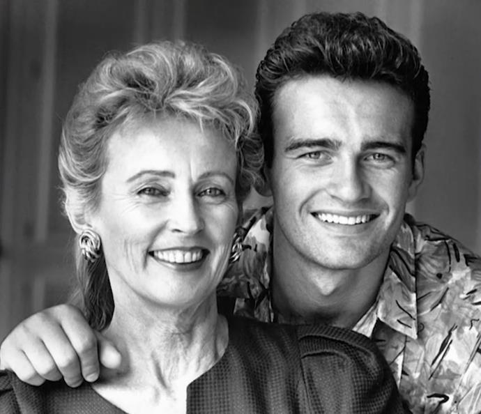 Julian and his mum, Sonia McMahon.