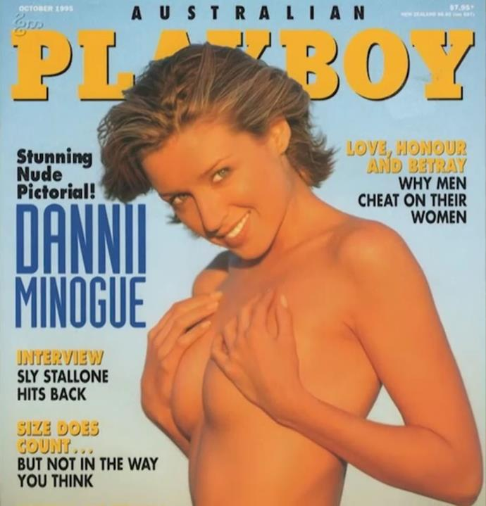 Dannii did *Playboy* to get out of debt.