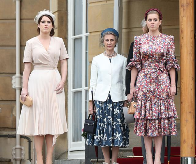 The princesses looked radiant at Buckingham Palace.