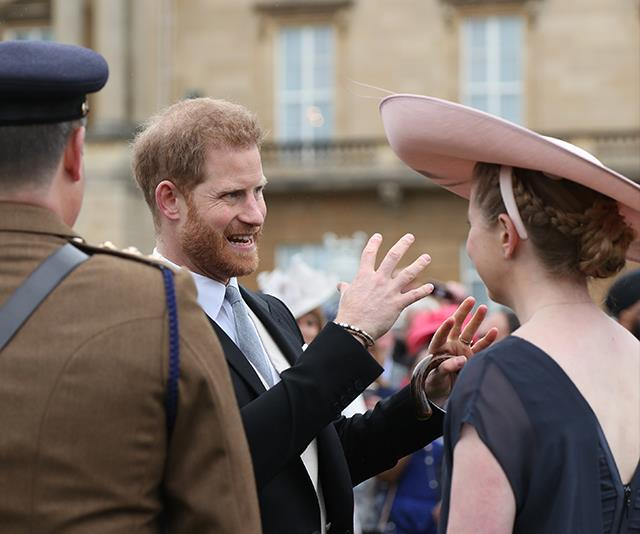 Prince Harry flew the flag for Team Sussex as Duchess Meghan is still on maternity leave.