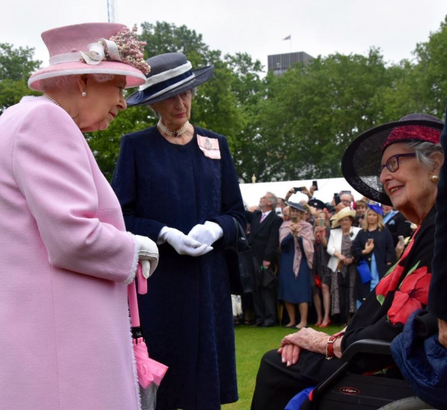 The Queen meets Margaret Baxter 70 years after they first met. *(Image: Getty)*