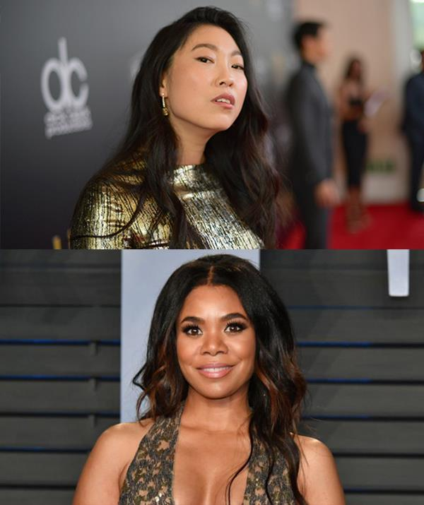 Awkwafina starred in *Crazy Rich Asians* (2018) and Regina Hall was in *Girls Trip* (2017). *(Getty Images)*