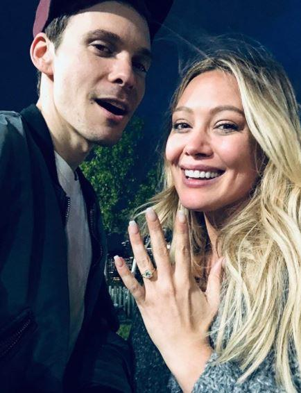 "**Hilary Duff and Matthew Koma** <br><br> In May, Hilary Duff announced via Instagram her and long-time boyfriend Matthew Koma's happy news, sharing a sweet pic and the simple caption: ""He asked me to be his wife♥️"" - obviously she said yes!"