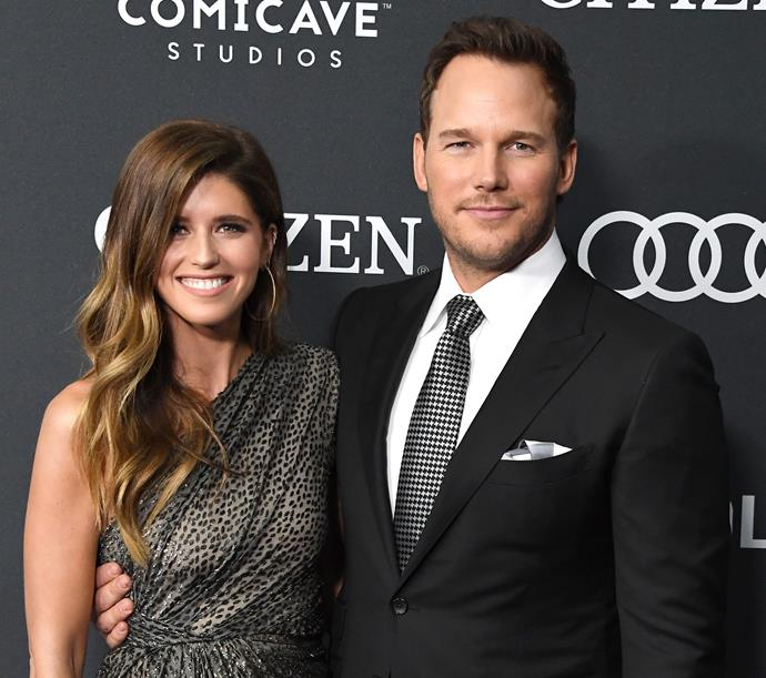 **Chris Pratt and Katherine Schwarzenegger**  <br><br> This year, Chris and Katherine announced their engagement via Instagram with a cute pic of the pair having a cuddle.